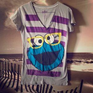 Tops - Sesame Street Cookie Monster T